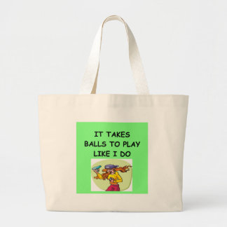 woman table tennis player canvas bag
