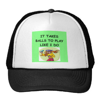 woman table tennis player trucker hat
