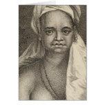 Woman, Tahuata Island Marquesas Islands Card