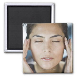 Woman taking a spa treatment 2 inch square magnet