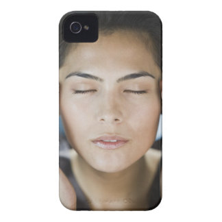 Woman taking a spa treatment iPhone 4 cover
