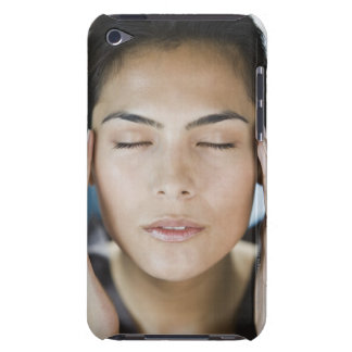 Woman taking a spa treatment iPod touch case