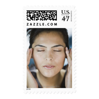 Woman taking a spa treatment postage