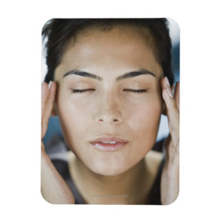 Woman taking a spa treatment rectangular photo magnet