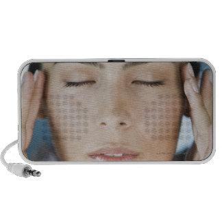 Woman taking a spa treatment iPhone speaker