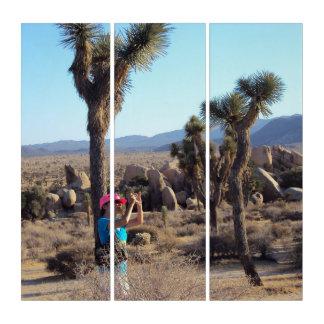 Woman Taking Photos At Joshua Tree Triptych