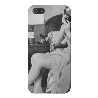 Woman Talking on Phone Case For iPhone SE/5/5s