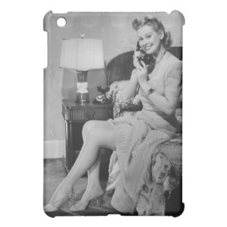 Woman Talking on Phone Case For The iPad Mini