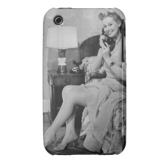 Woman Talking on Phone iPhone 3 Cover