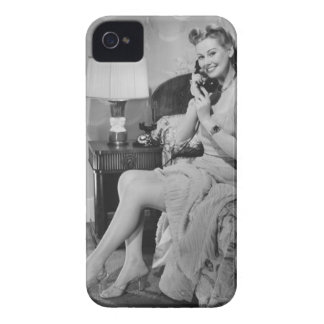 Woman Talking on Phone iPhone 4 Cover