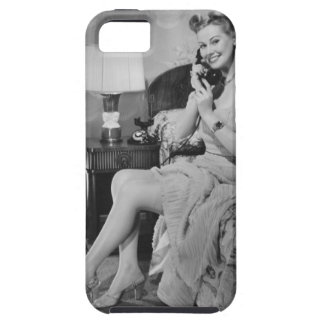 Woman Talking on Phone iPhone SE/5/5s Case