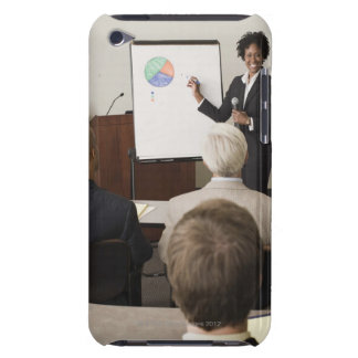 Woman teaching a class to adults barely there iPod case