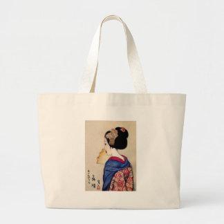 Woman ten subject dance princess large tote bag
