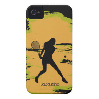 Woman Tennis Player iPhone 4 Case-Mate Cases