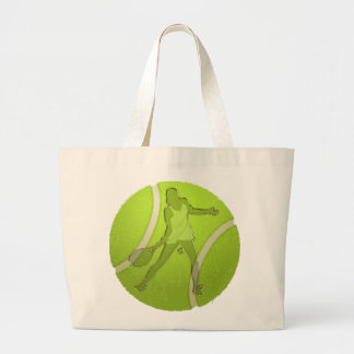 WOMAN TENNIS PLAYER DESIGN CANVAS BAGS