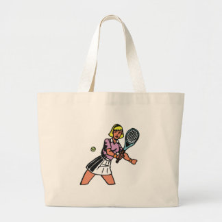 woman tennis player graphic canvas bag