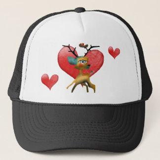 WOMAN TRUCKER HAT HEARTS