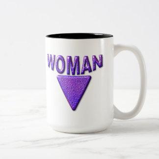 Woman Two-Tone Coffee Mug