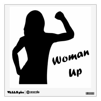 Woman Up - Motivational Fitness Wall Decals