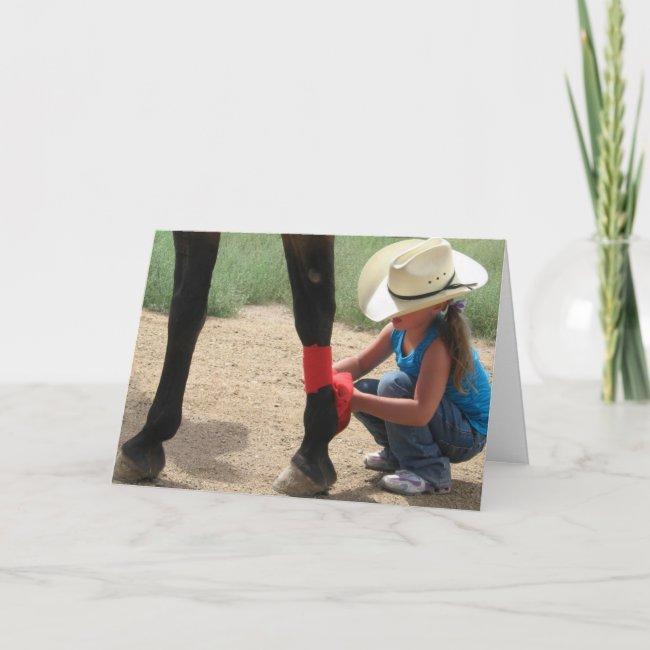 Woman Vet Congratulations Graduate Ranch Farm DVM Card