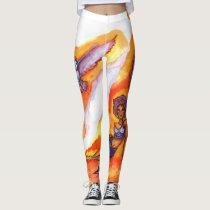 Woman w/ Owl Leggings
