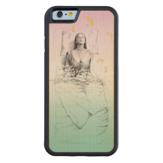 Woman waking up water surreal art carved® maple iPhone 6 bumper case
