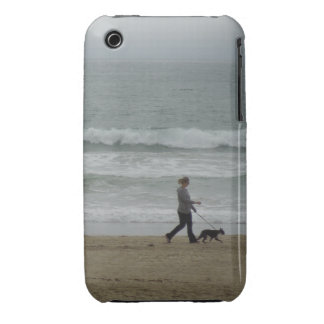 Woman Walking Dog at Pismo Beach, CA Case-Mate iPhone 3 Case