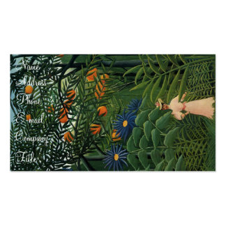 'Woman Walking in an Exotic Forest' Double-Sided Standard Business Cards (Pack Of 100)