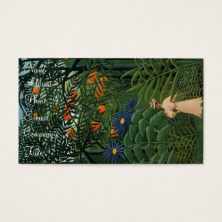 'Woman Walking in an Exotic Forest' Business Card