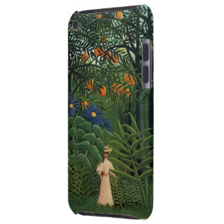'Woman Walking in an Exotic Forest' iPod Touch Case