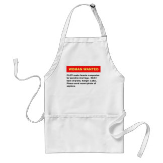 Woman Wanted Adult Apron