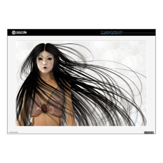 Woman Warrior Fantasy Illustration Laptop Decals