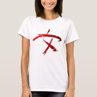 Woman Warrior Symbol over white T-Shirt