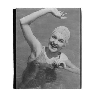 Woman Waving iPad Folio Cover