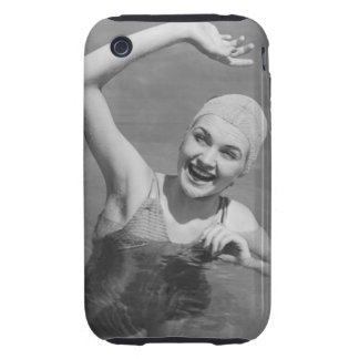 Woman Waving Tough iPhone 3 Cases