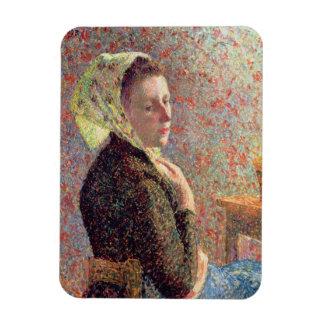 Woman wearing a green headscarf, 1893 magnet