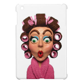 Woman Wearing Curlers Case For The iPad Mini