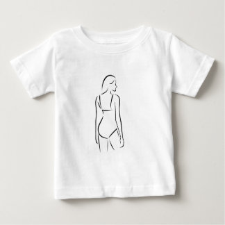 Woman wearing lingerie or swimsuit baby T-Shirt