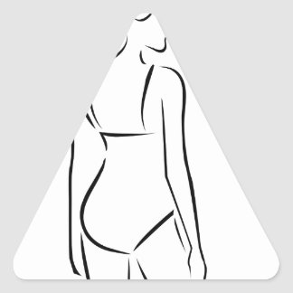 Woman wearing lingerie or swimsuit triangle sticker
