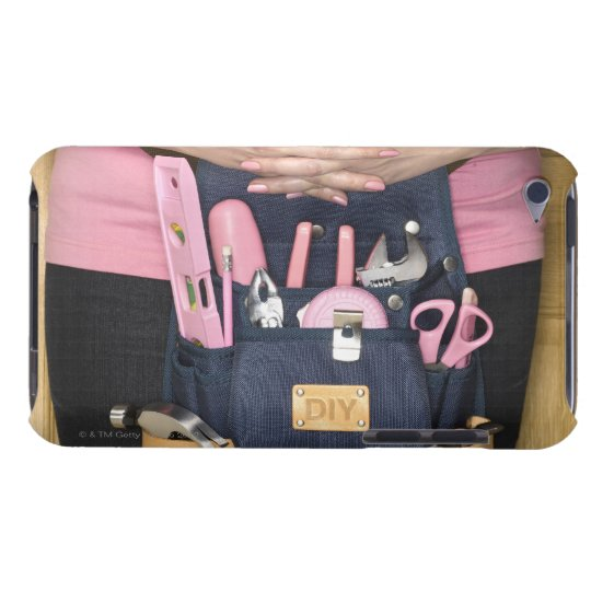 Woman wearing pink DIY tool belt, mid section Case-Mate iPod Touch Case