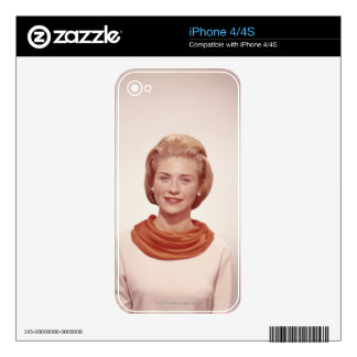 Woman Wearing Scarf Decal For The iPhone 4
