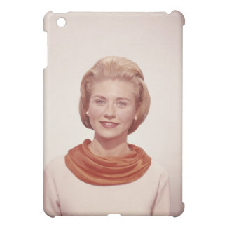 Woman Wearing Scarf iPad Mini Cover