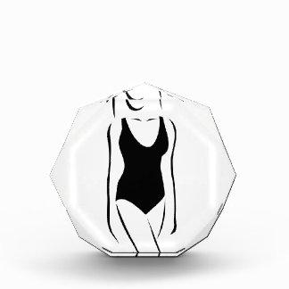 Woman wearing swimsuit acrylic award