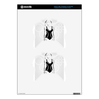Woman wearing swimsuit xbox 360 controller skins