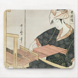 Woman Weaving Mouse Pad