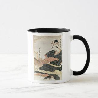 Woman Weaving Mug
