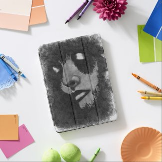 Woman Weeping Black&White Grunge iPad Air Cover
