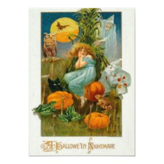 Woman Witch Pumpkin Black Cat Clown Owl Bat Card