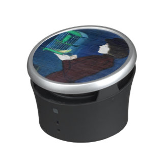 Woman with a Bird Cage Speaker