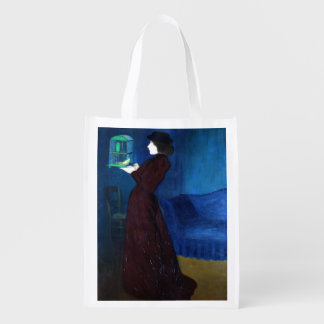 Woman with a Bird Cage Market Tote